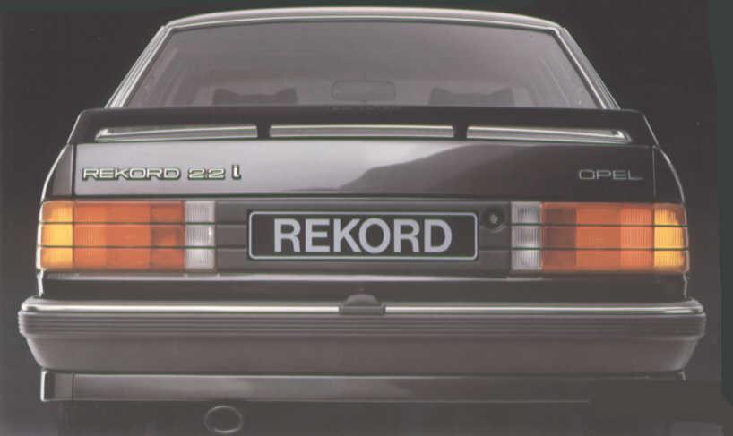 opel rekord e2  der rekord (bis modelljahr 1985)
